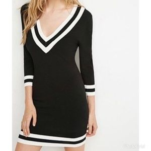 Varsity V-Neck Sweater Dress (BUNDLE)